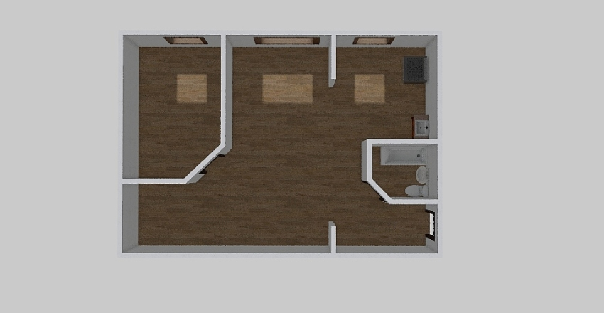2-комн_0343 Interior Design Render