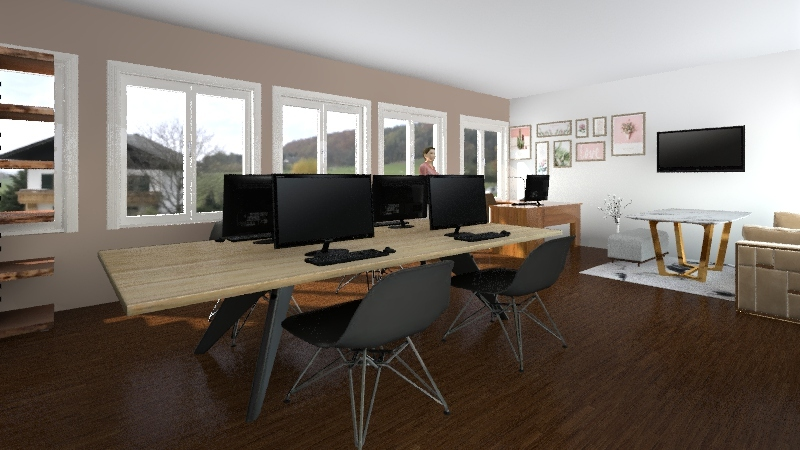 knjižnica josipa Interior Design Render