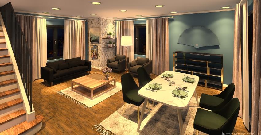 YEŞİL VE TEMİZ Interior Design Render
