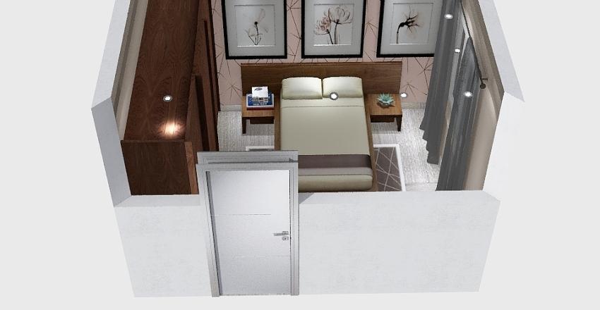 Layout de  Quartos para o  Instagran Interior Design Render