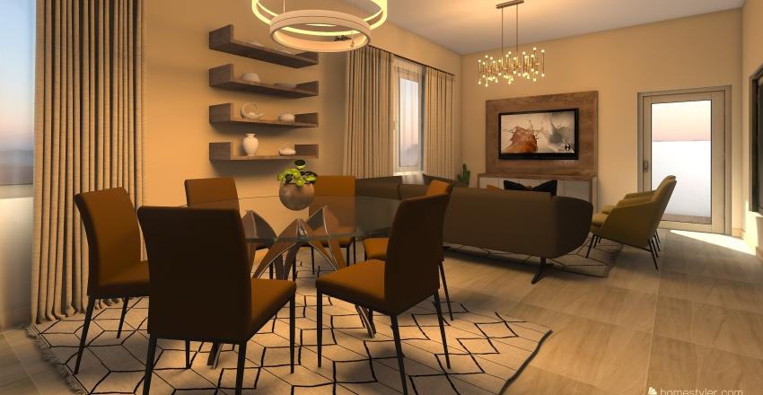 CASA DA ALINE Interior Design Render