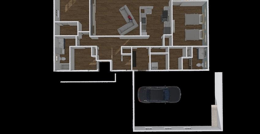 House Layout 1640 Interior Design Render