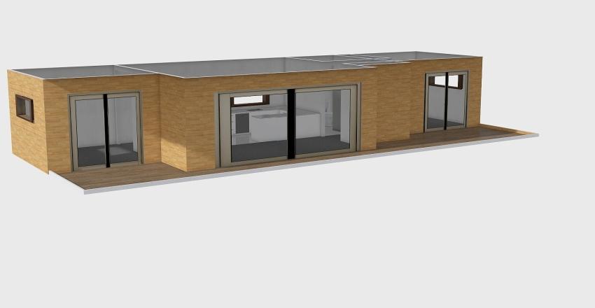 60m2 Pahoia Interior Design Render
