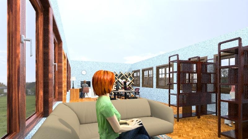 Knjižnica Dominik Interior Design Render