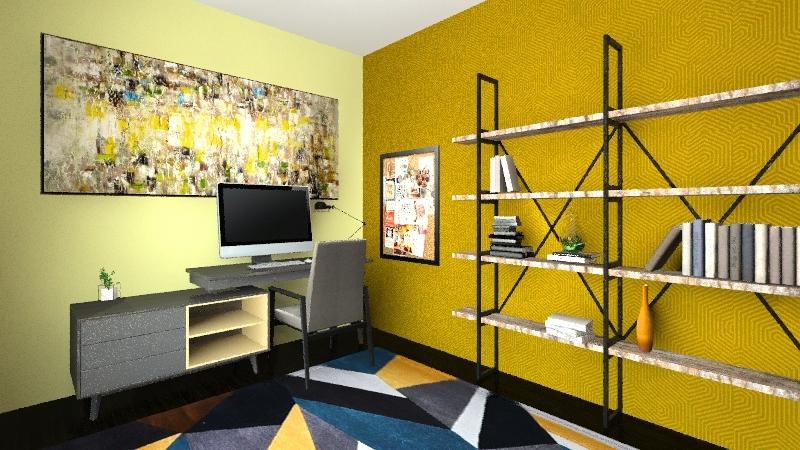 Habitacion estudio  Interior Design Render
