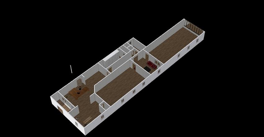 Nákladní fitko Interior Design Render
