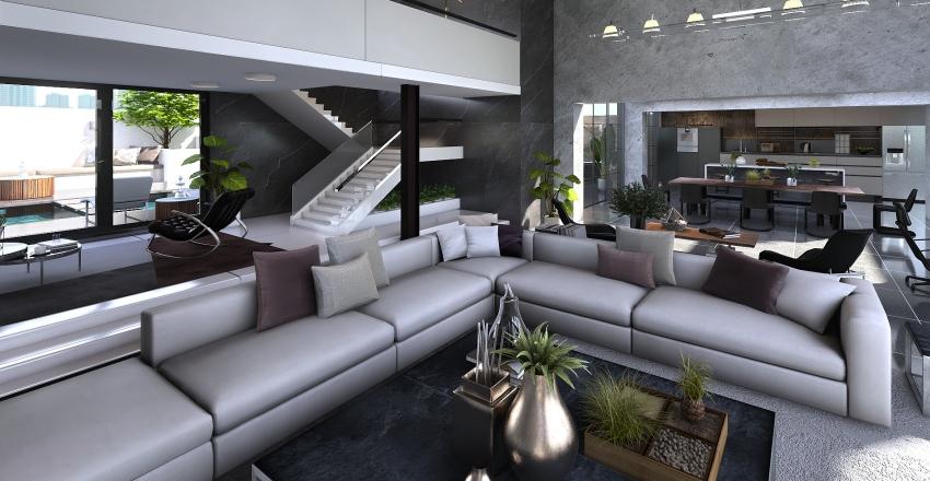 Atico moderno en Madrid Interior Design Render