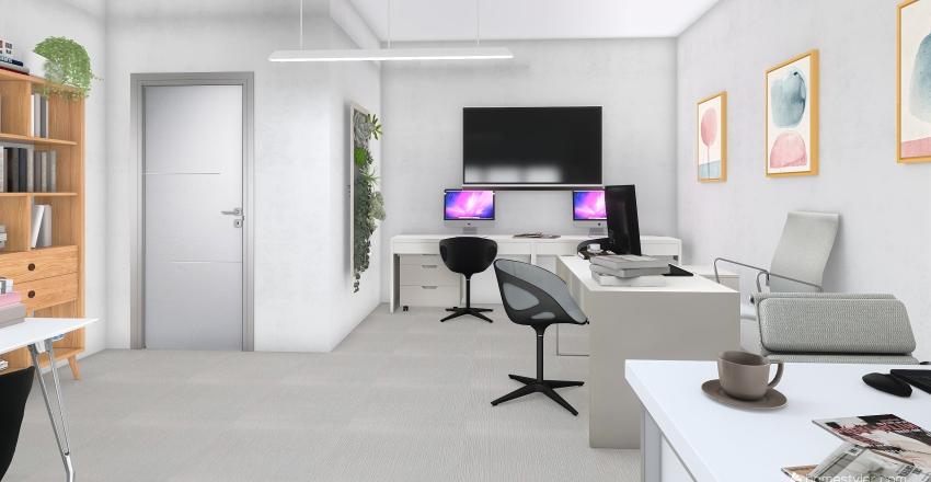 ufficio open space Interior Design Render