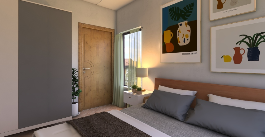 town home Interior Design Render