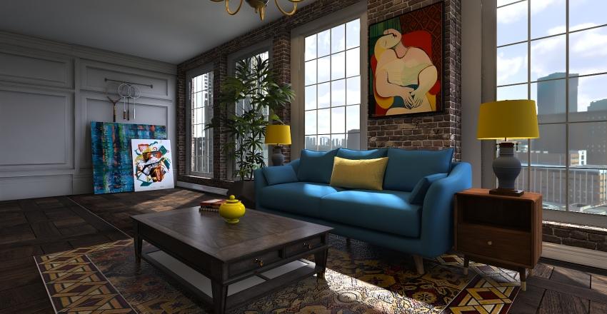free layout Interior Design Render