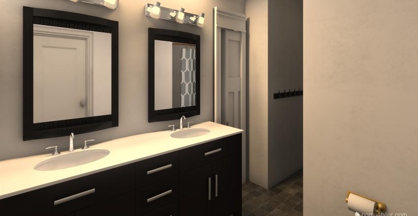 Large family House Interior Design Render