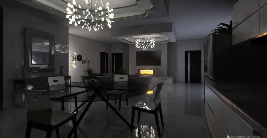 Luxory Penthouse  Interior Design Render