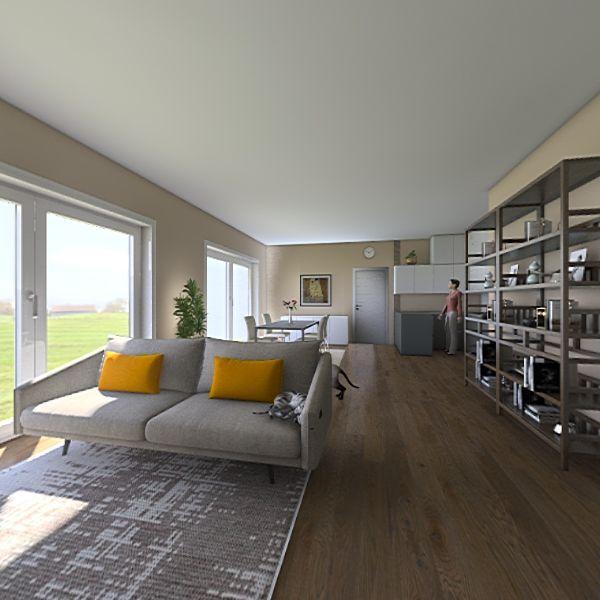 Progetto variante sala larga Michele Stanzani Interior Design Render