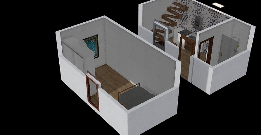 minimalistic home Interior Design Render