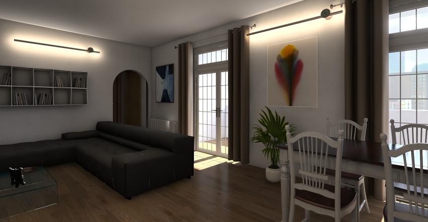 piantina sala e cucina Interior Design Render