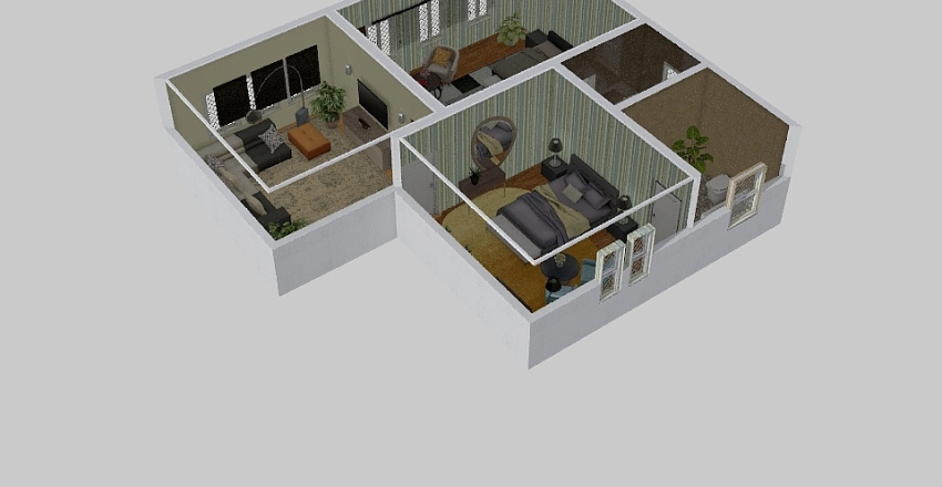 545Cool house Interior Design Render
