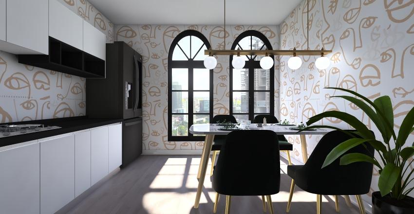 Apartamento vintage Interior Design Render