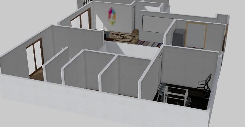 Office Studio Interior Design Render