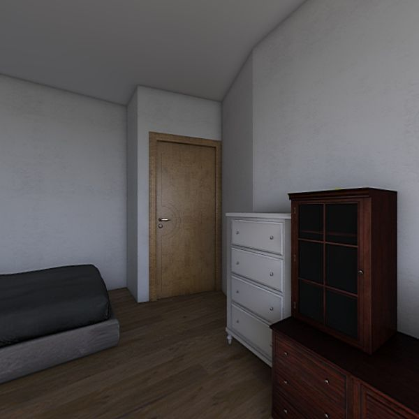 Wohn- und Schlafzimmer Interior Design Render