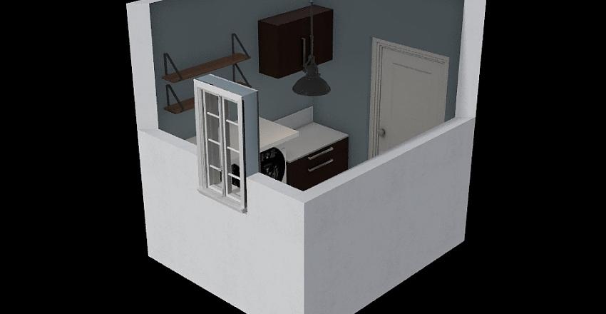 Moms Laundry Room Interior Design Render