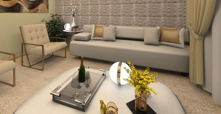 Sala Pequena Elegante  Interior Design Render