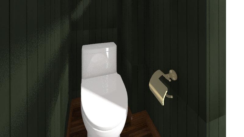 Upstairs Bathroom Interior Design Render
