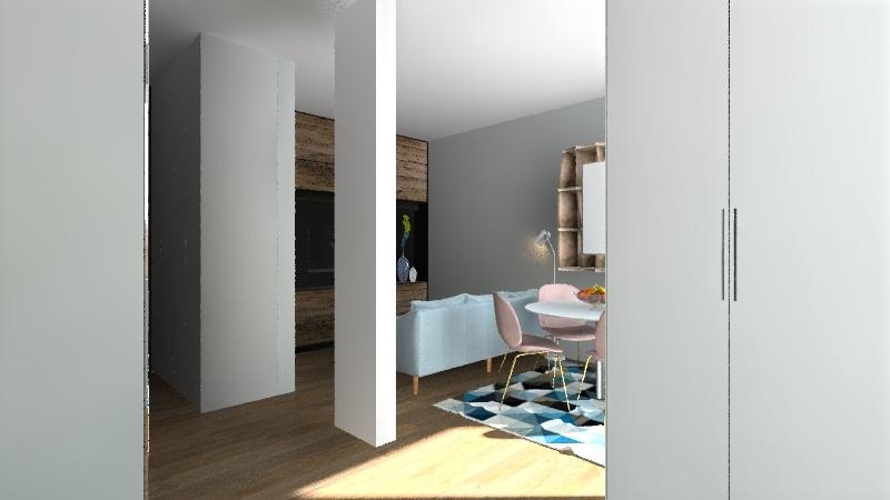 49m2 Interior Design Render
