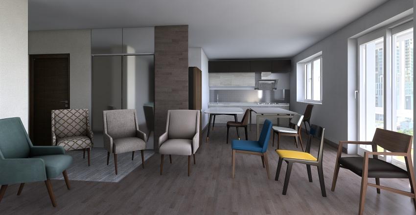 кварт трехкомнатная 2_новое Interior Design Render
