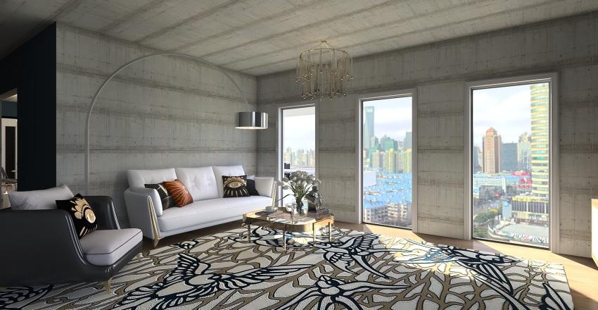 Small City Loft Hamburg Interior Design Render