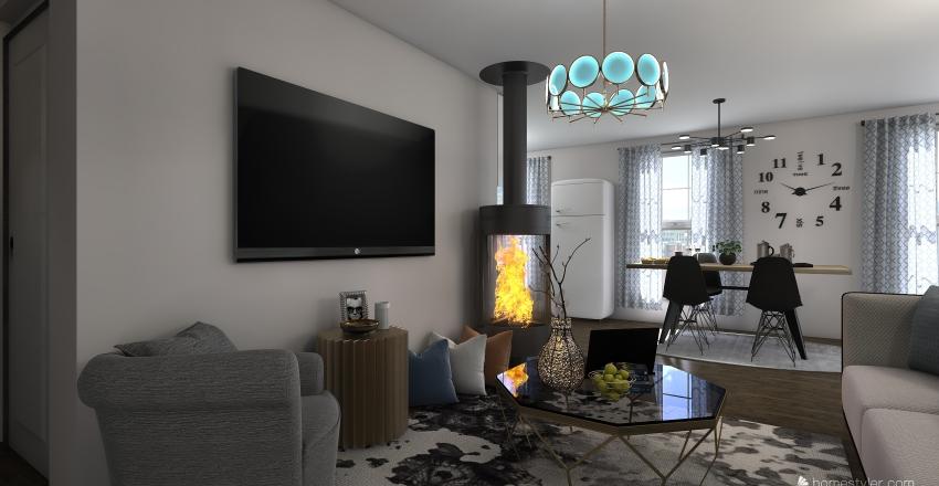 my small apartament Interior Design Render