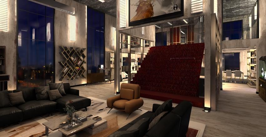 loft... Interior Design Render