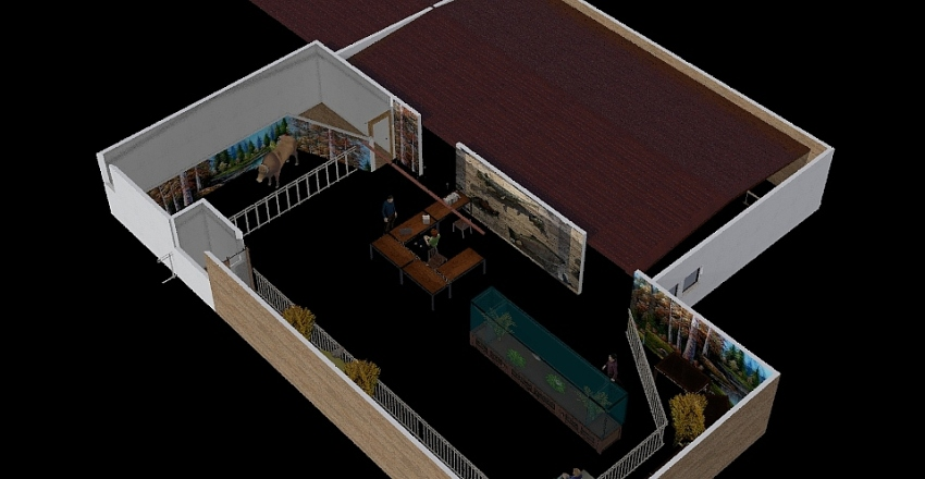 Fish and game layout Interior Design Render