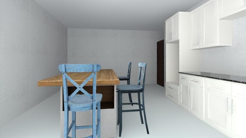 umar kitchen Interior Design Render