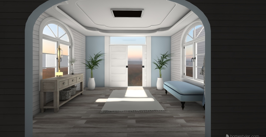 the neighborhood Interior Design Render