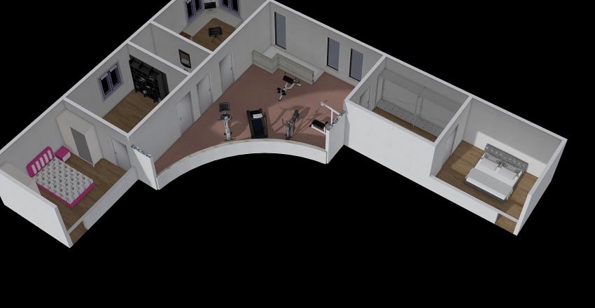 Проект 20/1(II этаж) Interior Design Render