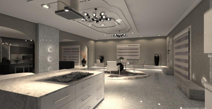 Dream Flat .  Interior Design Render