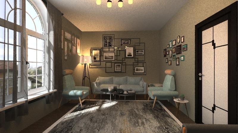 شقه 1 Interior Design Render