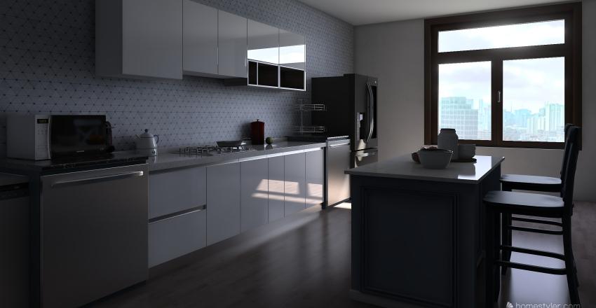 model kitchen Interior Design Render