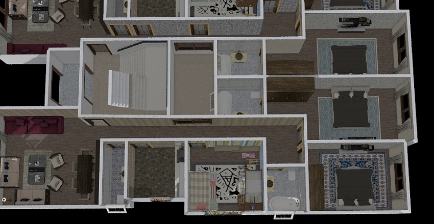 Badr Ground Floor Spotlighted Interior Design Render