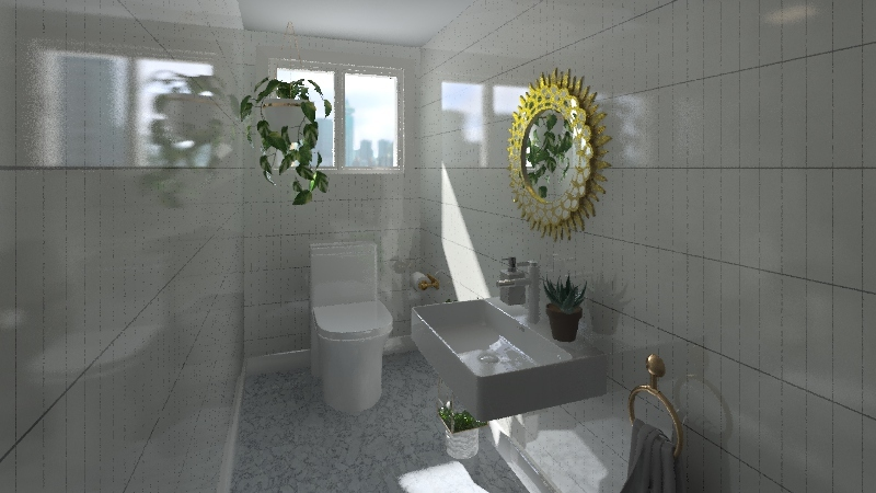 bathroom~toilet~laundry Interior Design Render