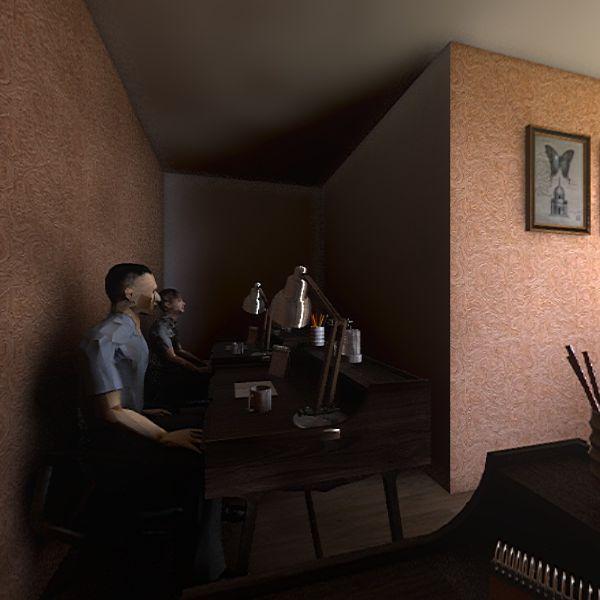 ruang kasir Interior Design Render