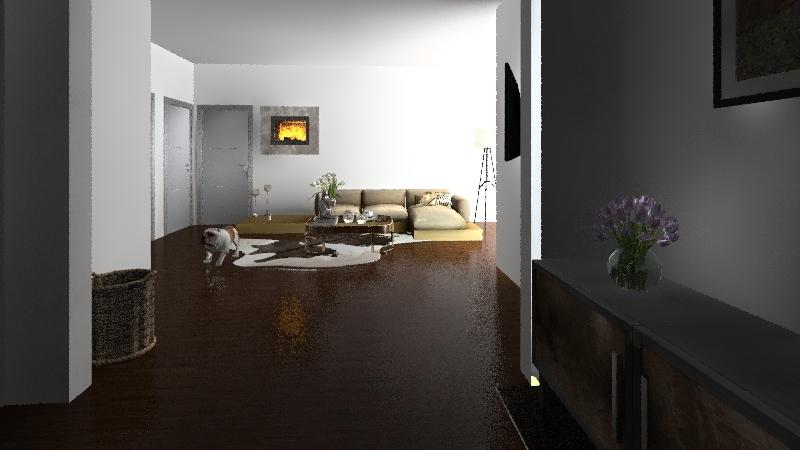 Scandinavian style Interior Design Render