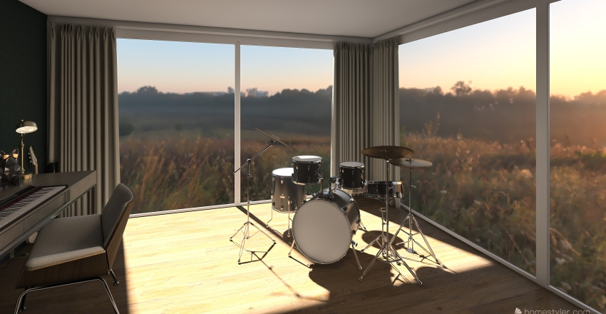 house on the mountain  Interior Design Render