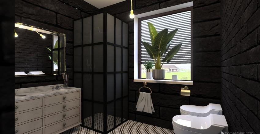 kk łazienka Interior Design Render
