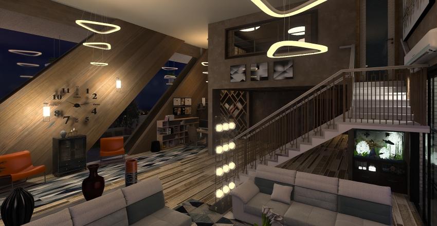 casetta  moderna Interior Design Render
