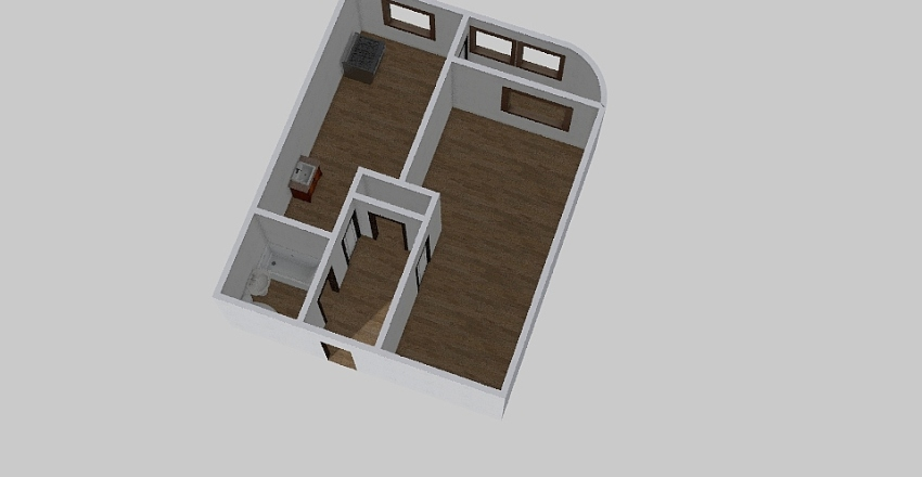 1-комн_0371 Interior Design Render