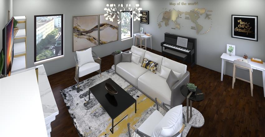 Living/hangout room Interior Design Render