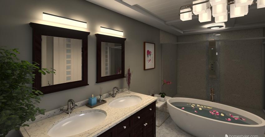 pequeña casa de un solo cuarto Interior Design Render