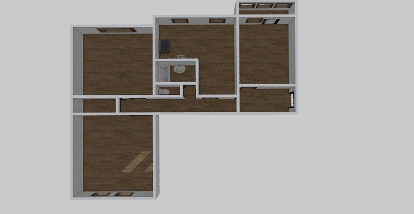 4-комн_056 Interior Design Render