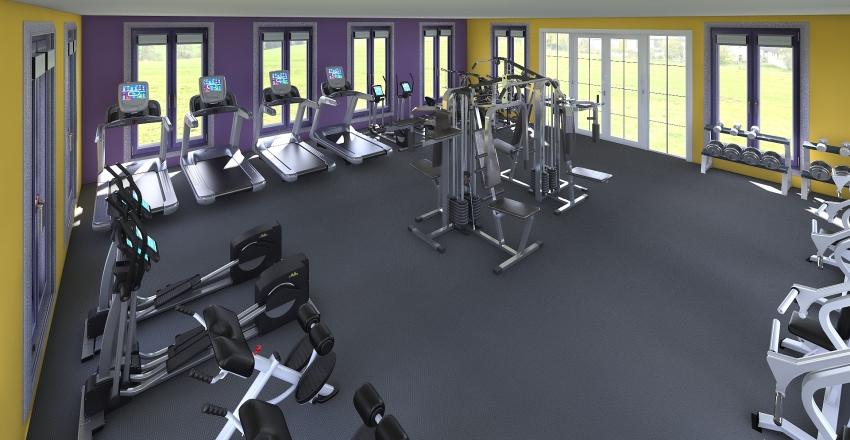 Planet Fitness Interior Design Render